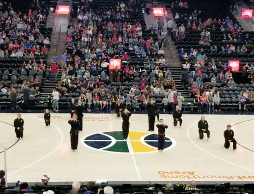 Omega Demo Team Performance at Harlem Globetrotters Game